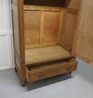 Victorian Arts & Crafts Golden Oak Mirrored Wardrobe (8 of 9)