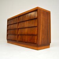 1950's Vintage Walnut & Satin Birch Chest of Drawers (5 of 11)
