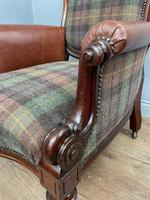 Unique Victorian Mahogany Library Arm Chair (5 of 7)