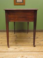 Antique Writing Table with Drawers and Aged Leather Top (13 of 19)