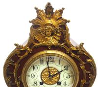 Wow! Phenomenal French Boulle Mantel Clock on Original Bracket 8 Day Mantle Clock (6 of 7)