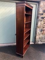 Tall English Mahogany Open Library Bookcase (5 of 10)