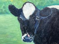 """20th Century Oil Painting Holstein Friesian Prized Cow """"Susan"""" Animal Portrait (5 of 20)"""