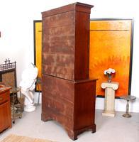 Secretaire Bureau Bookcase Astragal Glazed Mahogany (14 of 17)