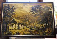 Large oil on canvas The Plantation Brazilian artist Chediac (10 of 10)