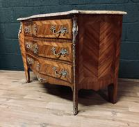 Beautiful French Louis XVI Style Tulip wood marble top commode (4 of 12)