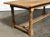 Bleached Oak Farmhouse Dining Table with Extensions (5 of 16)