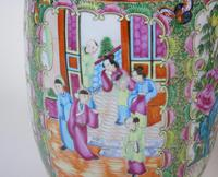 Good Large Pair of Chinese Famille Rose Rouleau Vases 19th Century (4 of 11)