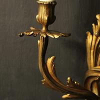 French Pair Of Bronze Antique Wall Sconces Oka (8 of 10)