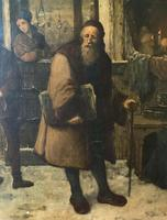 Substantial 19th Century Flemish Oil Painting of Locals in Brugge by Dumont (11 of 21)
