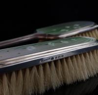 Vintage Art Deco Silver & Enamel Brush Set (7 of 12)