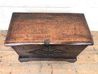 Antique Carved Oak Coffer (2 of 7)