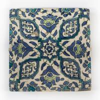 Ottoman Empire Damascus Square Tile late 16th Century (3 of 4)