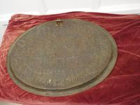 Large Oval Asian Brass Wall Hanging Marriage Charger (12 of 15)