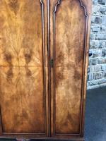 Antique Figured Walnut Triple Wardrobe (5 of 13)