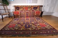Large Mid 20th Century Colourful Flat Weave Woolen Rug (8 of 15)