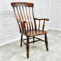 Large Grandfather Windsor Slatback Armchair (6 of 7)