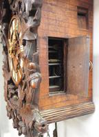 Antique Carved Early Cuckoo Clock Weight Driven Visible Pendulum (7 of 14)