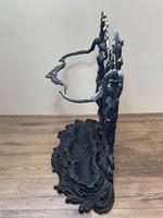 Art Nouveau Style Black Heavy Cast Iron French Nubile Umbrella Stand Corneau Alfred A Charlesville No 27 (35 of 41)