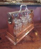 Antique Sheraton Inlaid Three Bottle Tantalus (12 of 12)