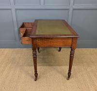 Victorian Walnut 2 Drawer Writing Table (3 of 15)