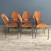 Teak 'City Chairs' by Øyvind Iversen (10 of 13)