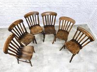 Matched Set of 6 Windsor Slatback Kitchen Chairs (4 of 8)
