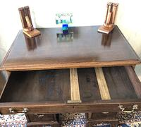 Victorian Mahogany Kneehole Campaign Desk (5 of 7)