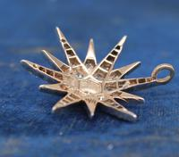 Diamond Star Pendant Set with Old Cut Diamonds (2 of 6)