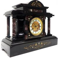Amazing Mappin & Webb French Slate & Marble Mantel Clock 8 Day Striking Mantle Clock (8 of 10)