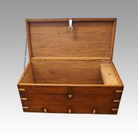 Victorian brass bound teak military chest (5 of 7)