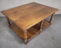 Solid Oak Rectangular Coffee Table (7 of 11)
