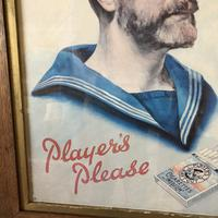 """Tobacciana Players Advertising Print - Vintage """"Players Please"""" Framed Print c.1960 (6 of 8)"""