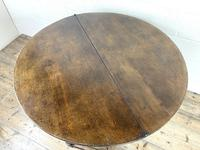 Carved Oak Fold-over Demi Lune Table (9 of 10)