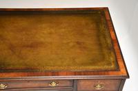 Antique Burr Walnut  Leather Top Desk (11 of 13)
