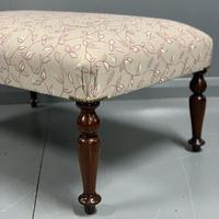 Newly upholstered Victorian footstool (2 of 5)