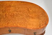 Antique Burr Walnut Kidney Shaped Desk or Dressing Table by Waring & Gillows (5 of 12)