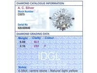 8.24ct Diamond & Platinum Ring by Boucheron - Vintage c.1950 (8 of 13)