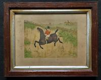 Set of Six 19thc Oak framed Humorous Coloured Sporting Hunting Engraving's (12 of 14)