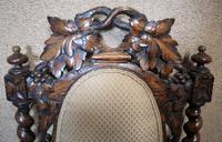 Pair of Victorian Jacobean Style Carved Oak Armchairs (11 of 12)
