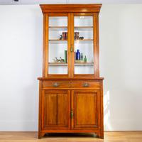 Handsome Victorian Walnut Glazed Bookcase C1890 (11 of 12)