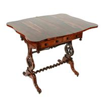 Rosewood Turn Over Top Writing Table (2 of 9)