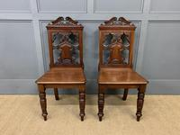 Good Pair of Victorian Walnut Hall Chairs (3 of 13)