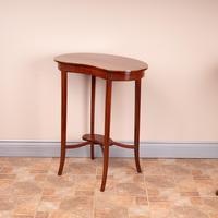 Edwardian Inlaid Mahogany Kidney Shape Occasional Table (13 of 15)