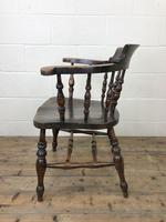 Antique Beech & Elm Smoker's Bow Armchair (8 of 9)