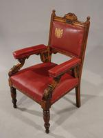 Finely Carved Late 19th Century Civic Armchair (6 of 8)