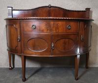 """Edwardian Mahogany """"D"""" Shaped Sideboard / Chippendale Style (12 of 12)"""