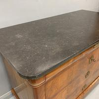 Figured Walnut and Marble Top Commode (6 of 13)