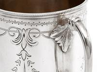 Victorian Silver Christening Mug in a Straight Body Form and Garland and Scroll Engraving (5 of 5)