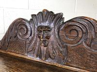 Victorian Gothic Oak Side Table with Green Man Details (12 of 17)